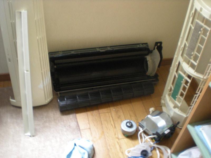 東芝エアコンの完全分解洗浄