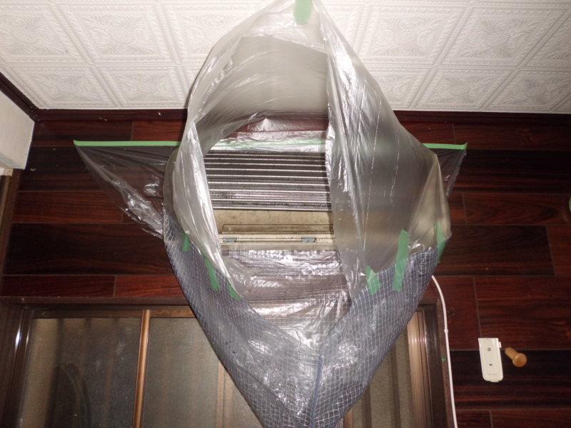 家庭用壁掛けダイキンエアコンのクリーニング