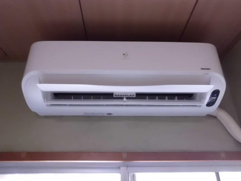 シャープお掃除エアコンの分解クリーニング