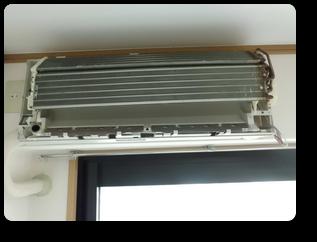 熱交換器内部まで徹底洗浄してます
