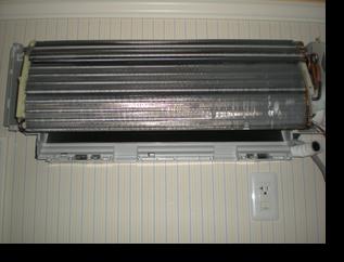 洗浄後の熱交換器