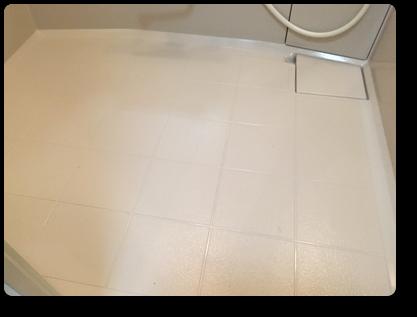 浴室クリーニング できれいになった浴室床